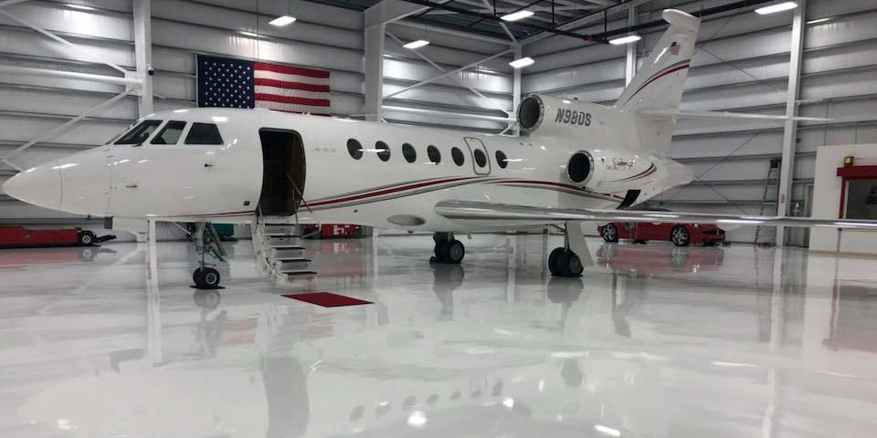 airplane hangar epoxy coating